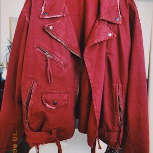 Free People Biker Jacket (worn once)